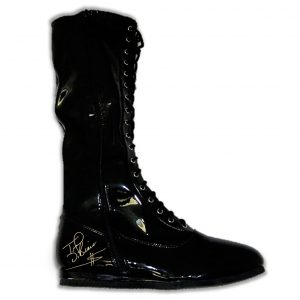 Autographed Ted DiBiase Wrestling Boots